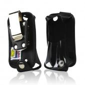 Black Turtleback Genuine Leather Pouch w/ Heavy Duty Steel Swivel Belt Clip for Motorola i485