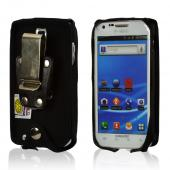 Black Turtleback Genuine Leather Pouch w/ Heavy Duty Steel Swivel Belt Clip for Samsung Epic 4G Touch