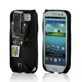 Turtleback Black Ballistic Nylon Pouch w/ Heavy Duty Steel Swivel Belt Clip for Samsung Galaxy S3