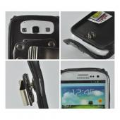 Turtleback Black Leather Pouch w/ Heavy Duty Steel Swivel Belt Clip for Samsung Galaxy S3