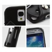 Black Turtleback Genuine Leather Pouch w/ Plastic Swivel Belt Clip for Samsung Galaxy S4