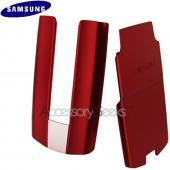 Original Samsung Hue R500 Battery Cover & Flip Cover Set - Red