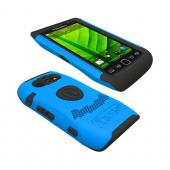 Original Trident Aegis Blackberry Torch 9860, 9850 Hard Cover Over Silicone Case, AG-BB-9850-BL - Blue/ Black