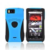 Original Trident Aegis Motorola Droid X MB810 Hard Cover Over Silicone Case w/ Screen Protector , AG-DX-BL - Blue/Black