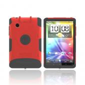Original Trident Aegis HTC EVO View 4G/ HTC Flyer Hard Cover on Silicone Case w/ Screen Protector & Detachable Stylus Mount, AG-FLYER-RD - Red/ Black