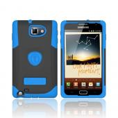 Original Trident Samsung Galaxy Note Aegis Hard Cover Over Silicone Case w/ Screen Protector, AG-GNOTE-BL - Blue/ Black