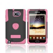 Original Trident Samsung Galaxy Note Aegis Hard Cover Over Silicone Case w/ Screen Protector, AG-GNOTE-PK - Pink/ Black