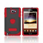 Original Trident Samsung Galaxy Note Aegis Hard Cover Over Silicone Case w/ Screen Protector, AG-GNOTE-RD - Red/ Black