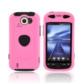 Original Trident Aegis HTC Mytouch 4G Slide Anti-Skid Hard Cover Over Silicone Case w/ Screen Protector & 3.5mm Audio Jack Extender, AG-MTS-PK - Pink/ Black