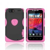 Original Trident Aegis Motorola Droid RAZR Hard Cover Over Silicone Case w/ Screen Protector, AG-RAZR-PK - Pink/ Black