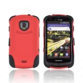 Original Trident Aegis Samsung Droid Charge Hard Cover Over Silicone Case w/ Screen Protector, AG-SCHG-RD - Red/ Black