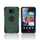 Original Trident Aegis AT&T Samsung Galaxy S2 Hard Cover Over Silicone Case w/ Screen Protector, AG-SGX2-BG - Green/ Black