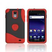 Original Trident Aegis Samsung Galaxy S2 Skyrocket Anti-Skid Hard Cover Over Silicone Case w/ Screen Protector, AG-SKYRCKT-RD - Red/ Black