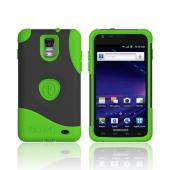 Original Trident Aegis Samsung Galaxy S2 Skyrocket Anti-Skid Hard Cover Over Silicone Case w/ Screen Protector, AG-SKYRCKT-TG - Lime Green/ Black