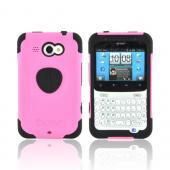 Original Trident Aegis HTC Status Anti-Skid Hard Cover Over Silicone Case w/ Screen Protector, AG-STS-PK - Pink/ Black