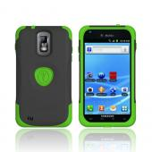 Original Trident Aegis T-Mobile Samsung Galaxy S2 Hard Cover Over Silicone Case w/ Screen Protector,AG-T989-TG - Lime Green/ Black