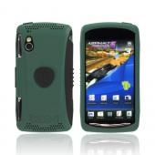 Original Trident Aegis Sony Xperia PLAY Hard Cover Over Silicone Case w/ Screen Protector, AG-XPER-PY-BG - Green/ Black