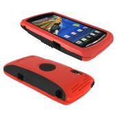 Original Trident Aegis Sony Xperia PLAY Hard Cover Over Silicone Case w/ Screen Protector, AG-XPER-PY-RD - Red/ Black