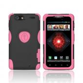 Original Trident Aegis Motorola Droid RAZR MAXX Anti-Skid Hard Cover Over Silicone Case w/ Screen Protector, AG-XT912-PK - Pink/ Black
