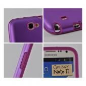 Purple Aluminum Hard Case on Silicone for Samsung Galaxy Note 2