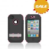 Original Trident Kraken AMS AT&T/ Verizon Apple iPhone 4, iPhone 4S Hard Case Over Silicone w/ Screen Protector, Kickstand, & Belt-Clip, AMS-IPH4S-PK - Pink/ Black
