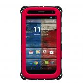 Trident Red/ Black Kraken AMS Series Hard Case Over Silicone w/ Screen Protector, Kickstand, & Belt-Clip for Motorola Moto X - AMS-MOT-X-RED