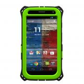 Trident Lime Green/ Black Kraken AMS Series Hard Case Over Silicone w/ Screen Protector, Kickstand, & Belt-Clip for Motorola Moto X - AMS-MOT-X-TG