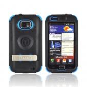 Original Trident Kraken AMS AT&T Samsung Galaxy S2 Hard Case Over Silicone w/ Screen Protector, Kickstand, & Belt-Clip, AMS-SGX2-BL - Blue/ Black