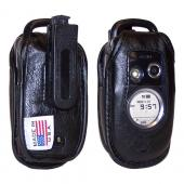 Original TurtleBack Premium Verizon Audiovox G'zone Type-S Leather Case w/ Swivel Belt Clip - Black
