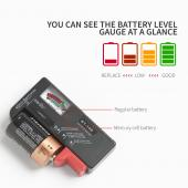 Battery Tester - For AA, AAA, C D, 9V Buttons, Test Multiple Sizes of Batteries on One Unit!