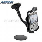 Original Arkon Blackberry Bold 9650 & Tour 9630, Curve 8700, Curve 8900 Gooseneck Windshield, Dash, or Console Mount, BB220 - Black