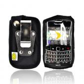 Original TurtleBack Premium Blackberry Bold 9000 Heavy Duty Nylon Case w/ Steel Belt Clip - Black
