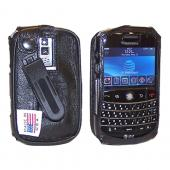 Original TurtleBack Premium Blackberry Bold 9000 Leather Case w/ Swivel Belt Clip - Black