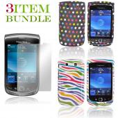Blackberry Torch Bundle Package - Two Hard Cases & Mirror Screen Protector - (Fashionista Combo)