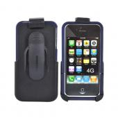 Original Seidio Apple Verizon/ AT&T iPhone 4, iPhone 4S Innocase Surface Combo Hard Case w/ Holster, BD2-HR3IPH4P-BL - Sapphire Blue