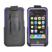 Original Seidio Apple Verizon/ AT&T iPhone 4, iPhone 4S Innocase Surface Combo Hard Case w/ Holster, BD-HR3IPH4P-PR - Amethyst Purple