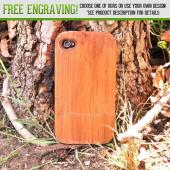 Exclusive TPhone Eco-Design Apple Verizon/ AT&T iPhone 4, iPhone 4S Teak Brown Wood Hard Sliding Case Bundle w/ Screen Protector, Extendable Stylus & Car Charger