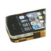 """Exclusive"" TPhone Eco-Design AT&T/ Verizon Apple iPhone 4, iPhone 4S Hand-Finished Wood Hard Back Cover Case - Checkered Teak Wood"