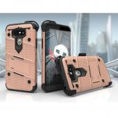 LG G5 Case - [BOLT] Heavy Duty Cover w/ Kickstand, Holster, Tempered Glass Screen Protector & Lanyard [Rose Gold/ Black]