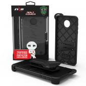 Motorola Moto Z Force Case - [BOLT] Heavy Duty Cover w/ Kickstand, Holster, Tempered Glass Screen Protector & Lanyard [Black]