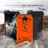 Motorola Moto Z Force Case - [BOLT] Heavy Duty Cover w/ Kickstand, Holster, Tempered Glass Screen Protector & Lanyard [Orange]