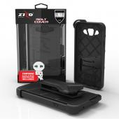Samsung Galaxy On5 Case - [BOLT] Heavy Duty Cover w/ Kickstand, Holster, Tempered Glass Screen Protector & Lanyard [Black]