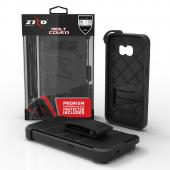 Samsung Galaxy S7 Case - [BOLT] Heavy Duty Cover w/ Kickstand, Holster, Tempered Glass Screen Protector & Lanyard [Black]