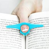 Book Page Holder, [Blue] Thumb Bookmark & Page Holder Assistant - Read w/ One Hand!