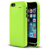 Lime Green Hard Charging Case w/ Kickstand & Integrated Lightning Port for Apple iPhone 5/5S/5C - 2000 mAh
