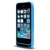 Sky Blue Hard Charging Case w/ Kickstand & Integrated Lightning Port for Apple iPhone 5/5S/5C - 2000 mAh