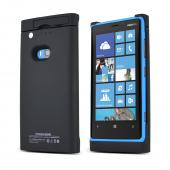 Black Rubberized Hard Charging Case for Nokia Lumia 920 (2200 mAh)