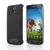 Black Rubberized Hard Charging Case w/ Kickstand for Samsung Galaxy Mega 6.3 (4000 mAh)