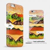 [Burger] Custom Printed Heat Sublimation Design Hard Plastic Case Cover for Apple iPhone 6 PLUS/6S PLUS (5.5 inch) w/ Free Screen Protector!