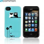 Original Uncommon AT&T/ Verizon Apple iPhone 4, iPhone 4S Slide-On Hard Case - Turquoise Oma Olaf Owl